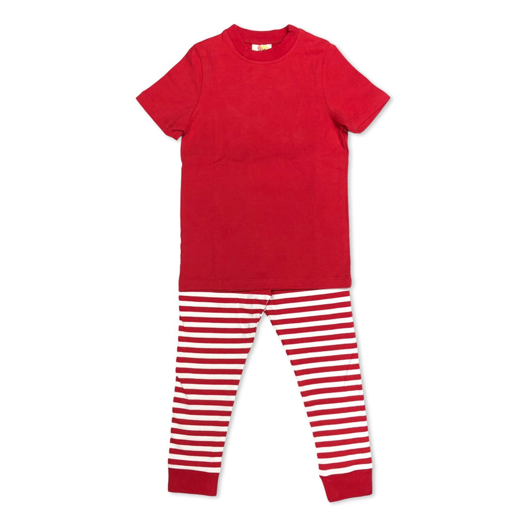 Red Short Sleeve Pajamas