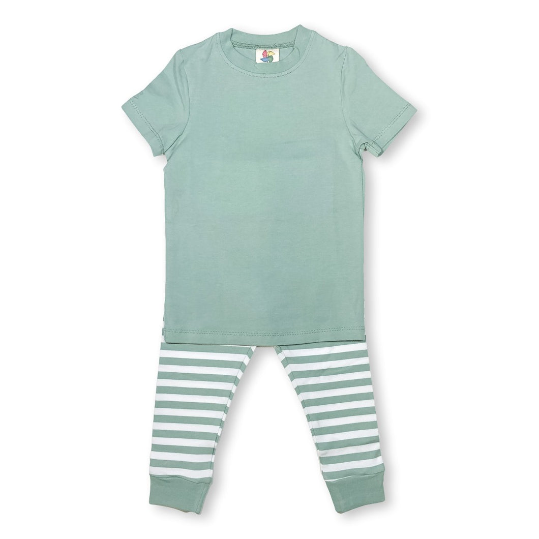 Sea Green Short Sleeve Pajamas