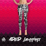 BLEK ADHD ⊙_ʘ  Leggings - Bipolar Bear BPB Wear