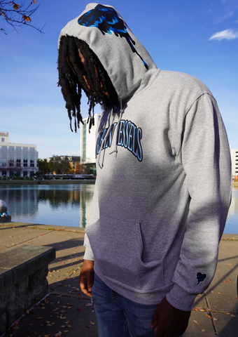 Blue Lotus Hoodie - Urban Vessels Clothing
