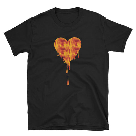 Flaming Heart Tee - Urban Vessels Clothing