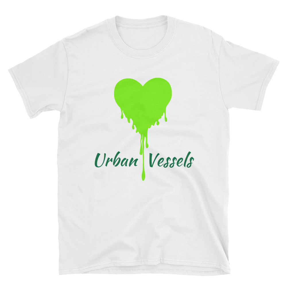 Lime Green Heart Tee - Urban Vessels