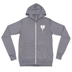 Breast Cancer Awareness Zip Hoodie - Urban Vessels