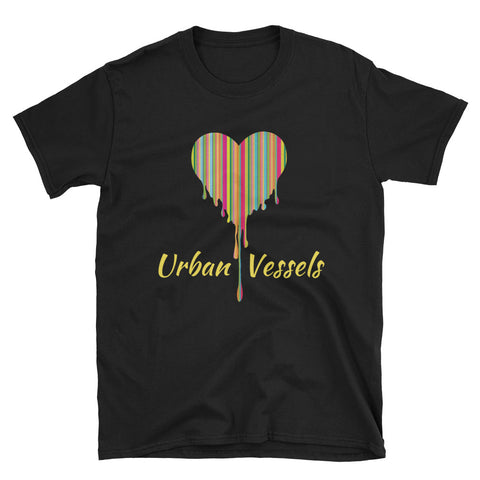 Paint Stripe Heart Tee - Urban Vessels Clothing