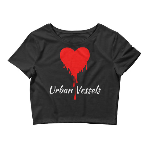 Classic Red Heart Crop Top - Urban Vessels Clothing