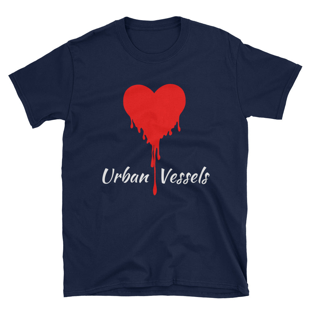 Classic Red Heart Tee - Urban Vessels Clothing
