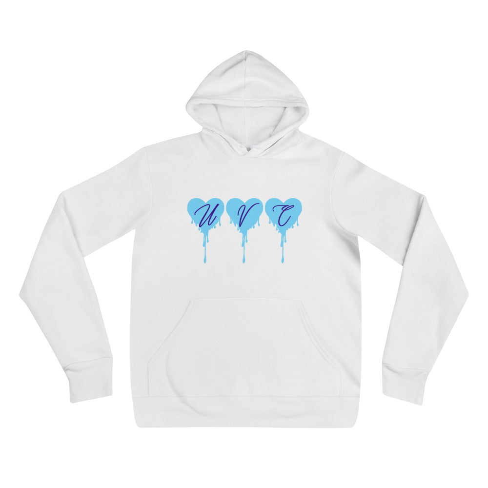 Powder Blue Hearts Hoodie - Urban Vessels