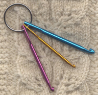 Mini Crochet Hook Set With Ring Whoops Fixer Pick Up Dropped Stitches Set of 3