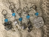 Seaside Knitting Stitch Markers Dreaming of The Sea Ocean Adventure Set of 5/SM99A