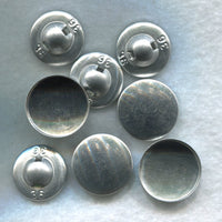 Fabric Covered Button Blanks DIY Do It Yourself metal 21mm (7/8 inch) Set of 8/BT135