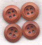 Rusty Brown Buttons Wooden Buttons 18mm (3/4 inch) Set of 8 /BT265A