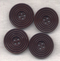Dark Chocolate Brown Wood Buttons Wooden Buttons 23mm (1 inch) Set of 8 /BT298