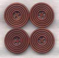 Rusty Brown Wood Buttons Wooden Buttons 23mm (1 inch) Set of 8 /BT299