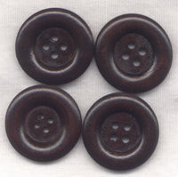 Chocolate Brown Buttons Classic Design 30mm (1 1/4 inch) Set of 8 /BT409
