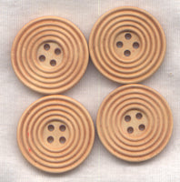 Brown Buttons Classic Circle Design Natural Brown 30mm (1 1/4 inch) Set of 8 /BT412A