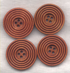 Rusty Brown Buttons Classic Circle Design 30mm (1 1/4 inch) Set of 8 /BT412B