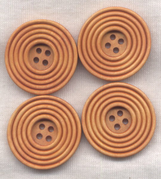 Light Brown Buttons Classic Circle Design 30mm (1 1/4 inch) Set of 8 /BT412C