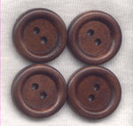 Chocolate Brown Buttons Simple Classic Wooden Buttons 18mm (3/4 inch) Set of 8 /BT418