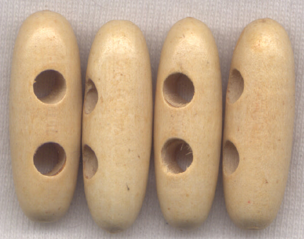 Natural Brown Wood Toggle Buttons Wooden 30mm (1 1/8 inch) Set of 8 /BT435