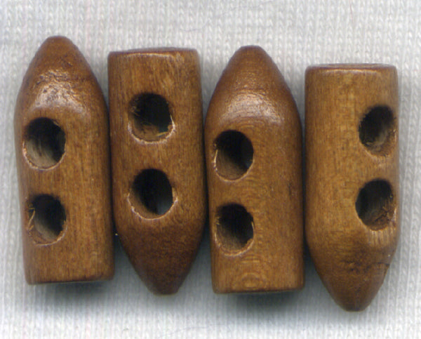 Dark Brown Horn Toggle Buttons Wooden 19mm (3/4 inch) Set of 8 /BT436