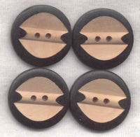 Chocolate Brown and Butterscotch Buttons 2-tone Design 30mm (1 1/4 inch) Set of 8 /BT500B