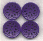 Dark Purple Lacy Cut Buttons Lace Wooden Buttons 18mm (3/4 inch) Set of 8 /BT525D