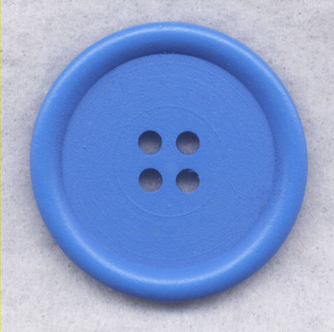 Blue Wood Buttons Wooden Buttons 40mm (1 5/8 inch) Set of 2 /BT527C