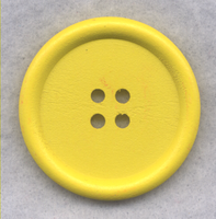 Yellow Wood Buttons Wooden Buttons 40mm (1 5/8 inch) Set of 2 /BT527D
