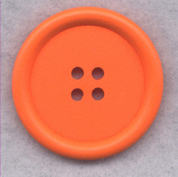 Orange Wood Buttons Wooden Buttons 40mm (1 5/8 inch) Set of 2 /BT527E