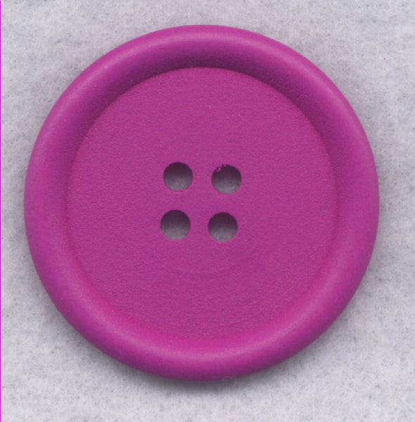 Purple Wood Buttons Wooden Buttons 40mm (1 5/8 inch) Set of 2 /BT527H