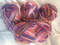 Bulky Knit 100% Wool Yarn colorway Spring 100 gm Ball BK01
