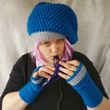Cloche Hat and Fingerless Gloves Musician's Gloves Easy Care CT0007
