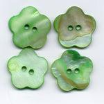 Green Mother of Pearl Buttons Natural 18mm (3/4 inch) Set of 8 /MOP03