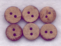 Coconut Wood Buttons Tiny Buttons 10mm (7/16 inch) Set of 12/Mini08