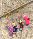 Single Sock Knitting Stitch Markers Second Sock Syndrome Set of 4/SM265A