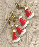 Santa Hat Progress Keeper Stitch Marker Clip Jolly Old St Nick  Single /SM07A