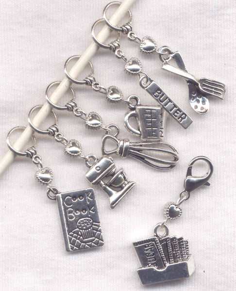 Baking Knitting Stitch Markers Favorite Baker Pastry Chef Set of 7 /SM106