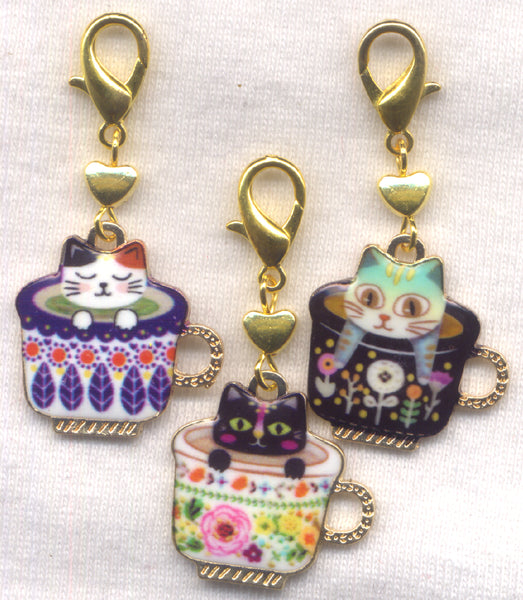 Teacup Cats Progress Keeper Clips Set of 3 /SM22