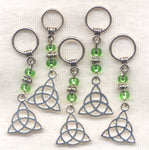 Celtic Knot Knitting Stitch Markers Mystical Irish Symbol Set of 5 /SM249B