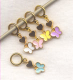 Mini Butterfly Knitting Stitch Markers Butterflies Great for lace knitting! Set of 5 /SM119B