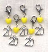 Stitch Count Stitch Markers  20 Count Set of 5 /SM137