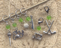 Love to Golf Knitting Stitch Markers   Set of 6/SM142