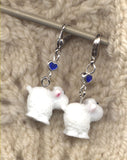 Fluffy White Sheep Progress Keeper Clips 3-D Set of 2/SM178