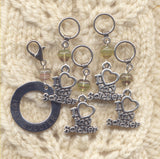 Love My Soldier Knitting Stitch Markers Heart My Soldier Set of 5/SM190A