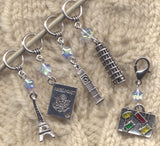 Dream Vacation Stitch Markers European Holiday Set of 5/SM195