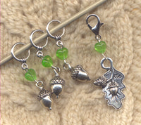 Acorn Knitting Stitch Markers mighty oak Set of 4/SM323