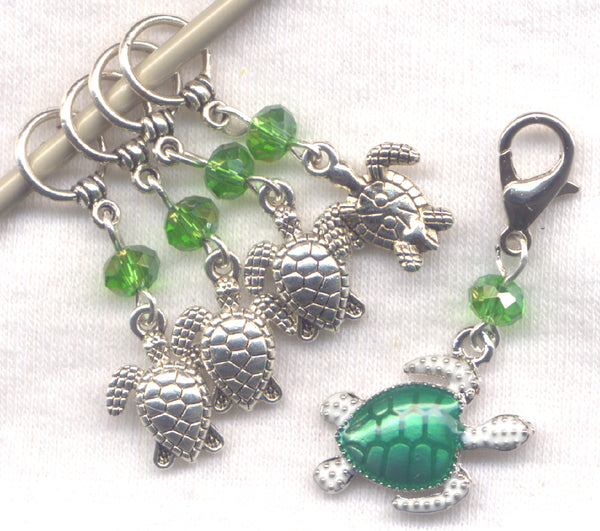 Sea Turtle Knitting Stitch Markers Seaside Turtles Charms Great Barrier Reef Set of 5 /SM218
