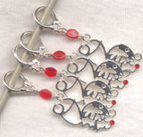 Nurse Knitting Stitch Markers LPN RN NP Set of 4 /SM220D