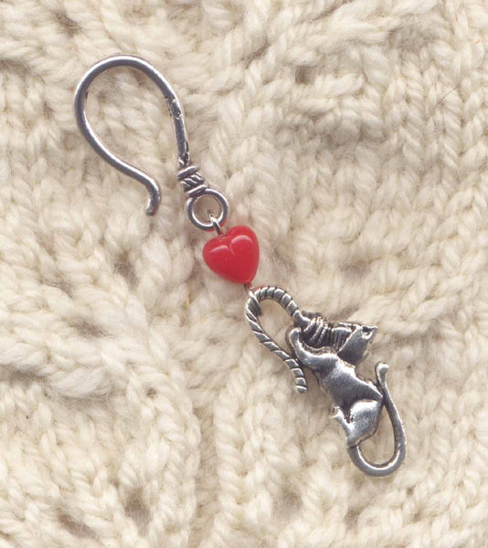 Love Cats Progress Keeper Hook Cat and Yarn Single /SM222B