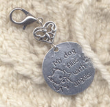 Beloved Dog Stitch Marker Clip My Dog Is An Angel Pet Memorial Single /SM224D